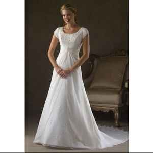 Bonny Bliss 2102 Modest Chiffon Wedding Dress